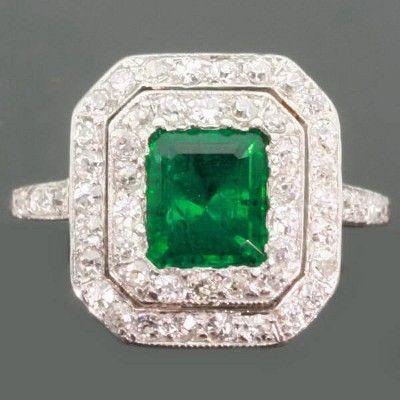 Art Deco 1920's engagement ring from Antwerp, Belgium.