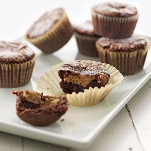 Peanut Butter-Filled Brownie Cupcakes Recipe from Taste of Home