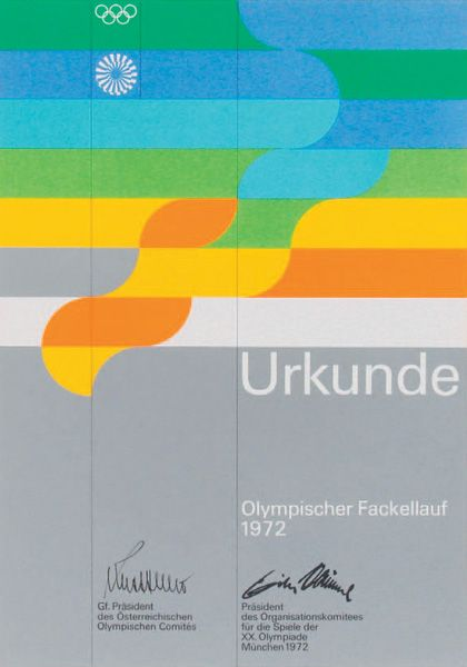 Otl Aicher - 1972 Munich Olympics Posters A legend and inspiration German Graphic Designer Otl Aicher is the man who inpsired us with his minimal and retro styles that we see today, these can especially be seen in his poster designs for the 1972 Olympics in Munich below.