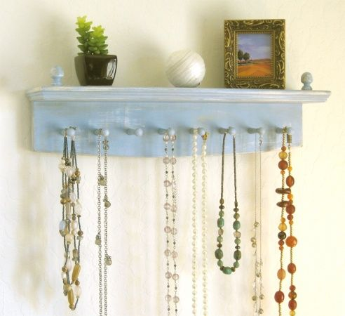 Necklace+Holder+-+beautifully+aged+necklace+hanger,+necklace+organizer,+jewelry+hanger,+jewelry+holder
