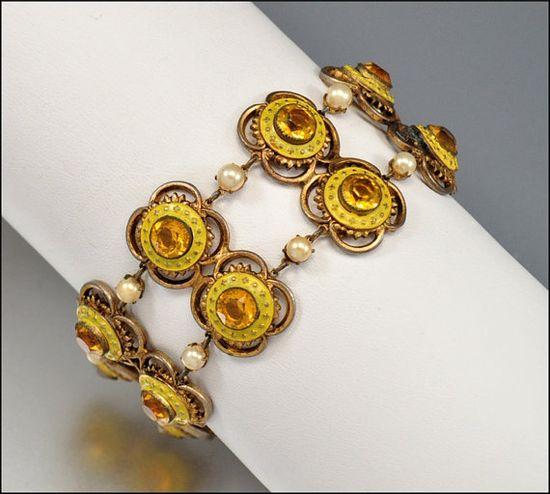 Art Deco bracelet by Leo Glass, 1930s