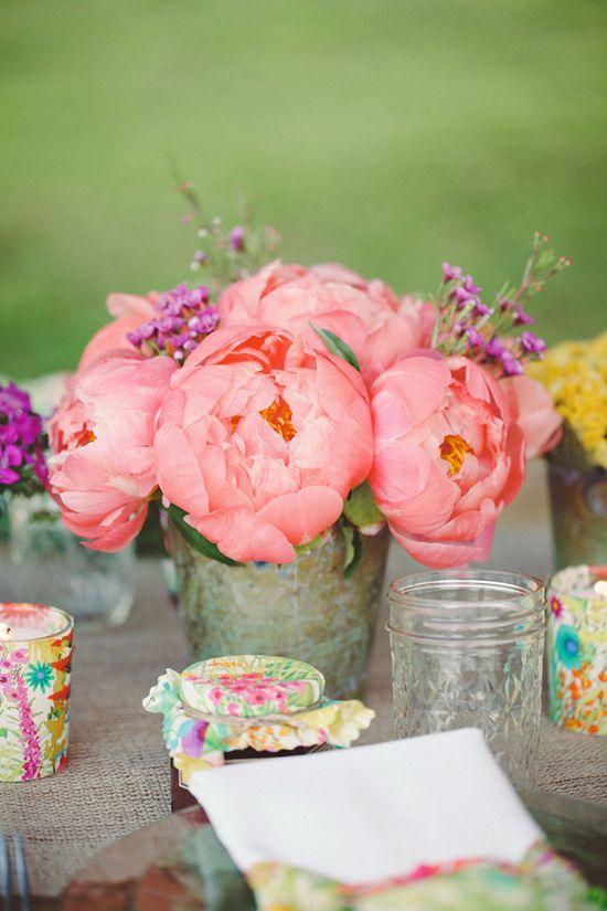 pink peonies www.weddingchicks...