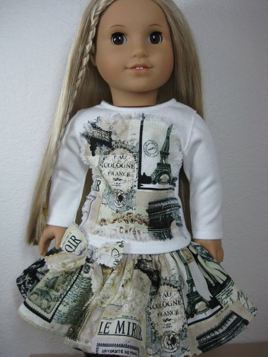 18 inch Doll Clothes American Girl Streets of Paris Outfit