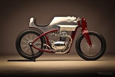 Spectacular design work from Chris Fletchner in Seattle at Speedshop. Built on a 1965 BSA