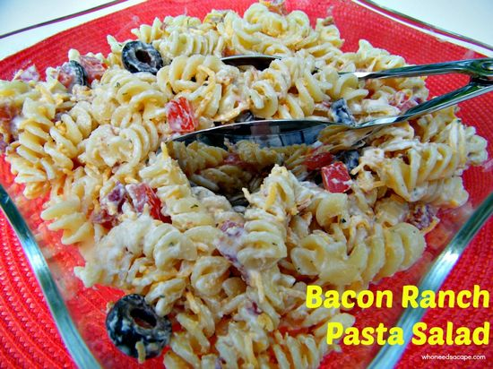 Bacon Ranch Pasta Salad - a side or have it as a meal - pasta salad is perfect for summer!