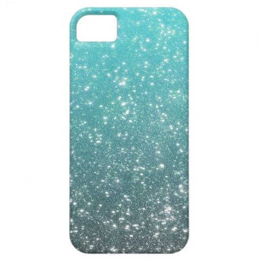 I want!! Aqua Ombre Glitter iPhone 5 Cases
