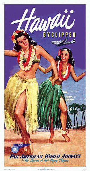 Hawaii Vintage Travel Brochure