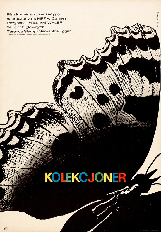 polish film poster for the collector 1965