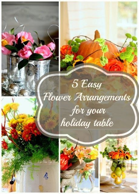 5 easy flower arrangements that you can do for your holiday table