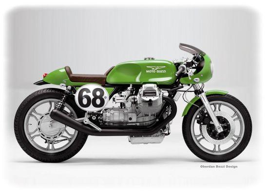 Please Moto Guzzi, build this gorgeous green machine.
