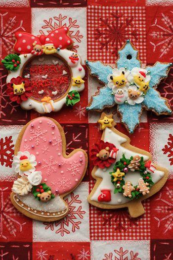 Fantastically kawaii Christmas cookies! #cute #kawaii #cookies #Christmas #food