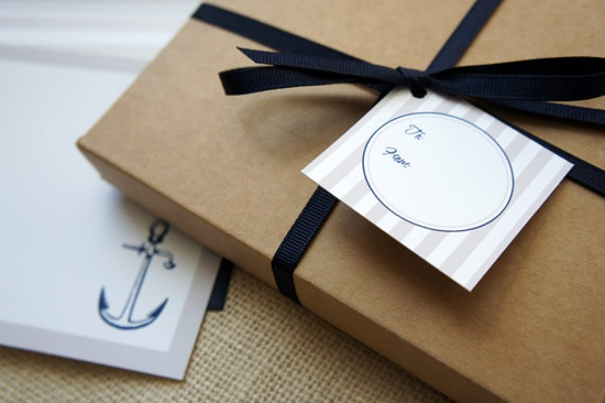 Nautical Anchor Social Stationery by DawnCorrespondence on Etsy