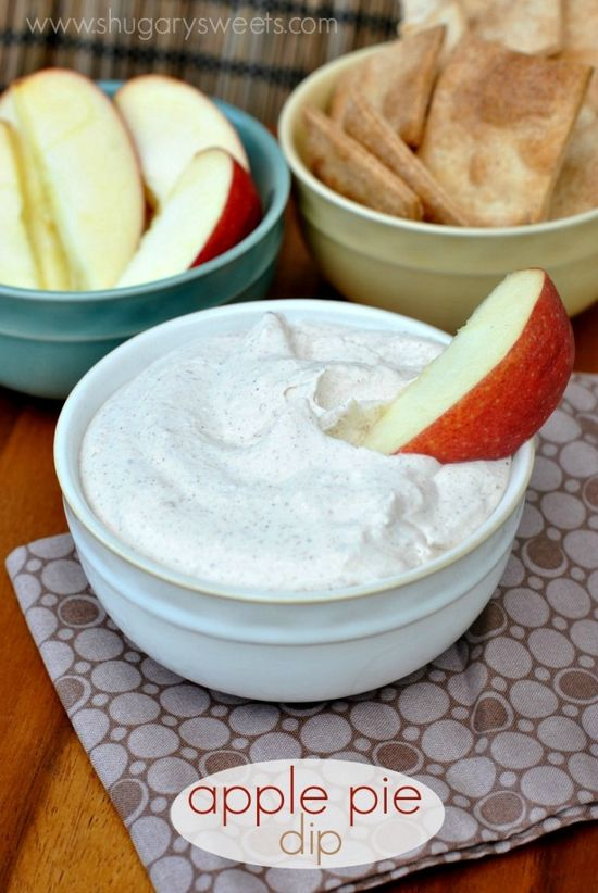 Creamy, fluffy Apple Pie Dip made with greek yogurt and apple butter. Don't forget the Pillsbury cinnamon chips!