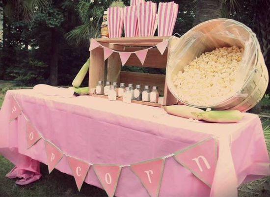 Popcorn Bar at a Carnival Party #carnival #party
