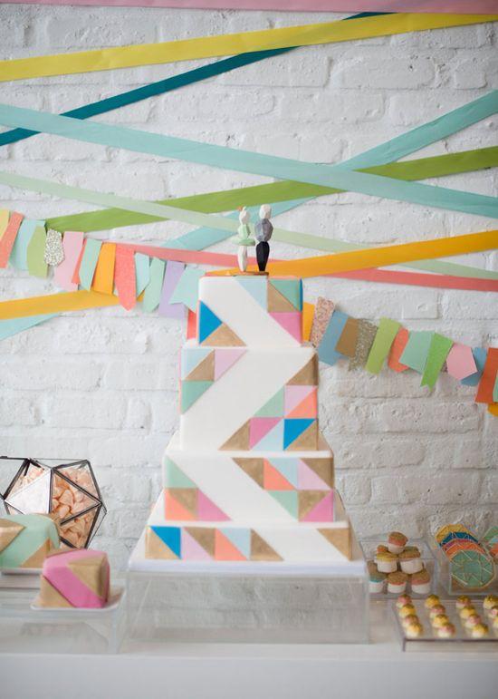 Modern geometric wedding decor ideas