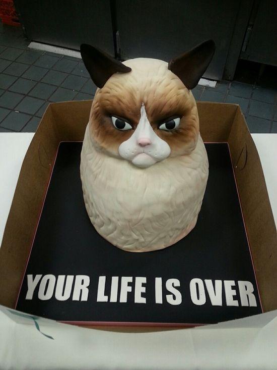 Grumpy Birthday cake
