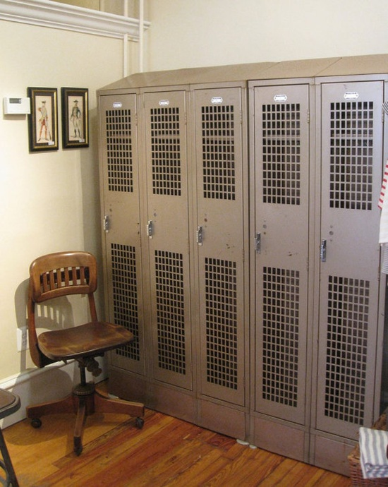 Set of Five Lockers
