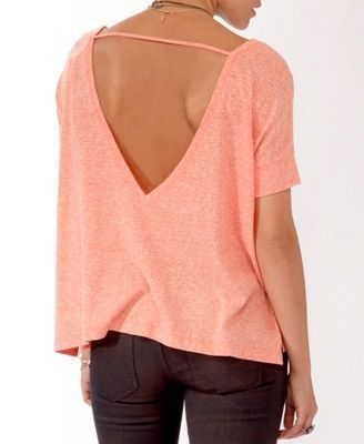Oversize V-Back Top- just ordered this. getting my summer clothes