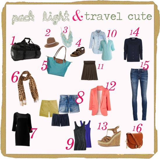 Packing light travel tips