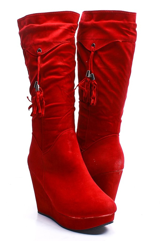 Red wedge boots! $9.99 - lots of colors to choose from!!