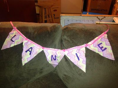 Cute baby gift, DIY tutorial, name banner