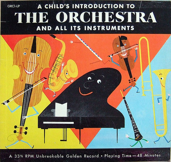 A child's introduction to the orchestra and all its instruments, via Paula Wirth.