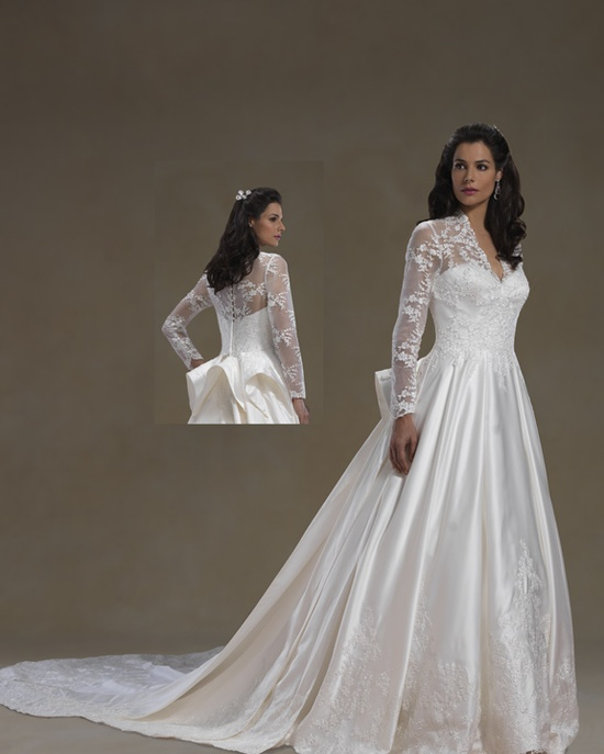 Long sleeve wedding dress by Forever Bridals