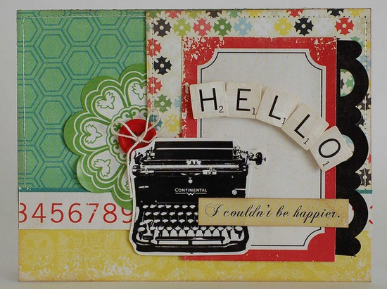"""Hello """"For the Record"""" Card"""