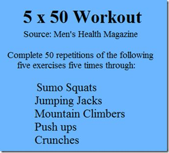 5 x 50 Workout