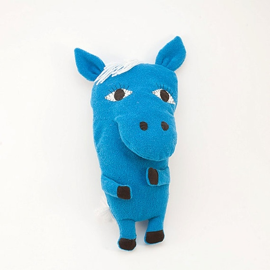 Blue wild horse  cuddle toy soft plush toy plushie by Vibys