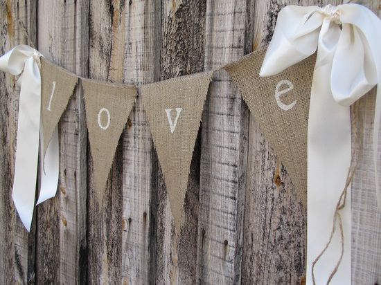 burlap and bows