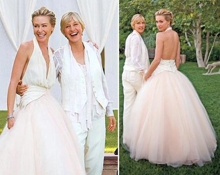 Ellen DeGeneres and Portia DeRossi #celebrity #wedding