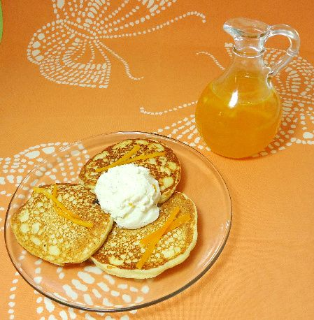 The Breslin Ricotta Pancakes with Orange Syrup