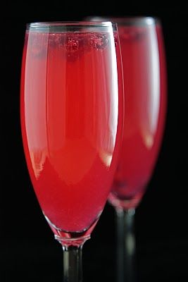 Pomegranate-Grapefruit Champagne Sparklers