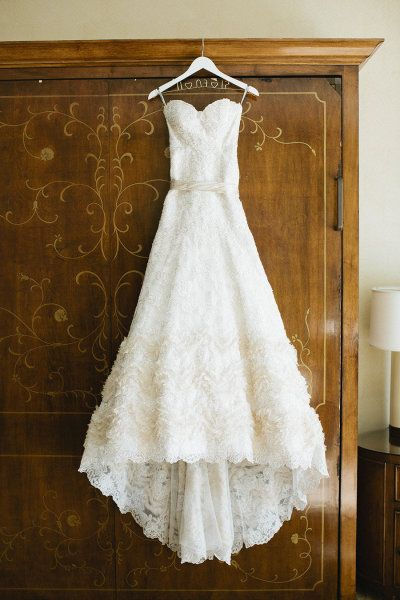 Floral Lace Wedding Gown.