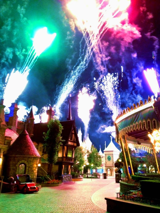 Fantasyland during the fireworks! AMAZING!!!!