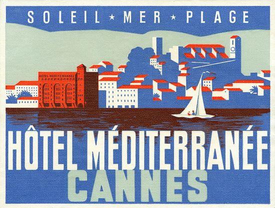 Hotel Méditerranée luggage label