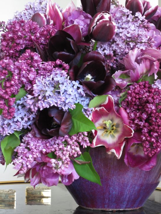 Talk about a gorgeous 'bowl' of flowers to welcome spring!! Flowers & Gardens