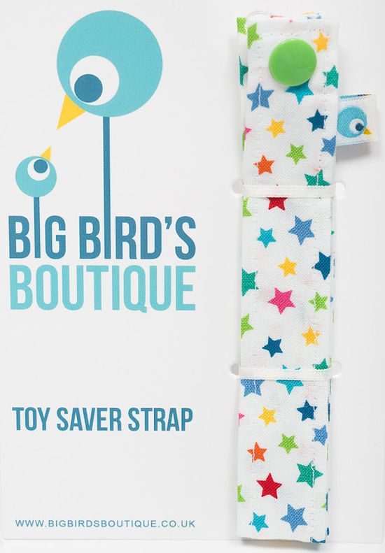 Toy Leash - Toy Saver Strap - Sophie Saver - Pacifier Clip - Rainbow Stars  £6