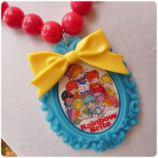 Totally Awesome Rainbow Brite Kawaii Necklace 80's TV Cartoon $27.00