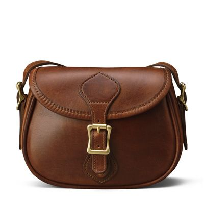 Small Shoulder Handbag Flap Bag - Distressed Brown Leather