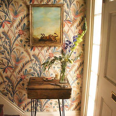 wallpaper, vintage desk