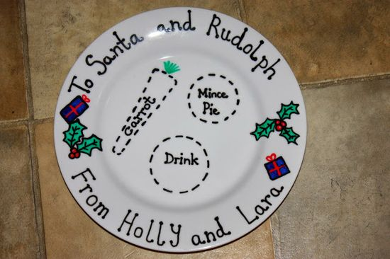 Do-It-Yourself Personalised Christmas Plate