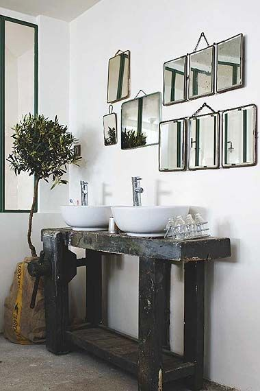 bathroom with vintage details