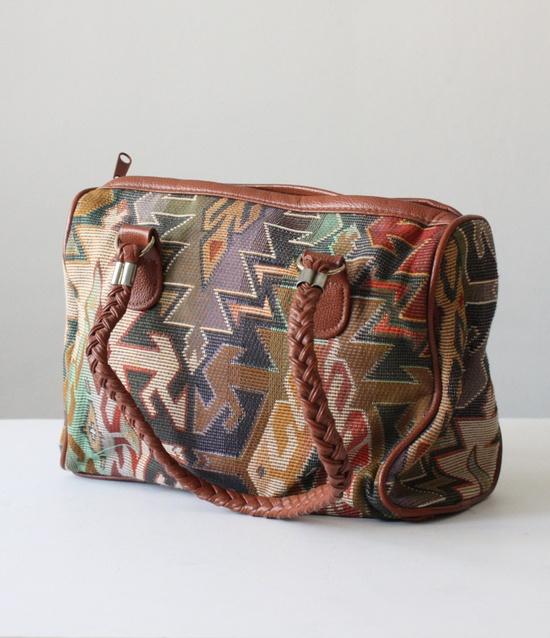 vintage tribal shoulder bag. via Etsy.