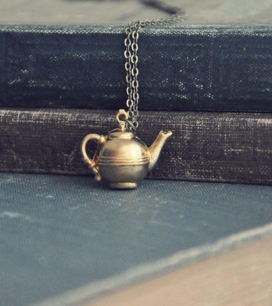 petite teapot necklace
