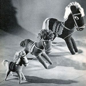 Crocheted Horses Pattern