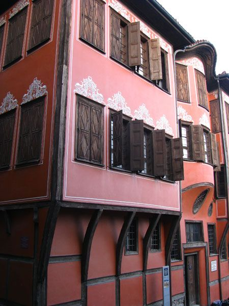 Traditional Architecture of Homes in Plovdiv, Bulgaria
