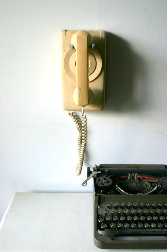 Mid Century Modern Industrial Office Phone