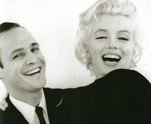 Marilyn with Marlon Brando.